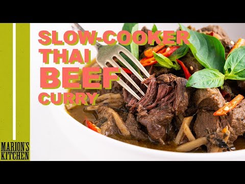 Slow Cooker Thai Beef Curry - Marion's Kitchen