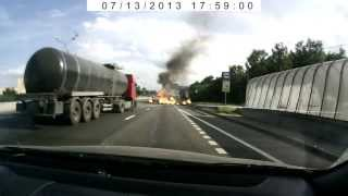 Взрыв ISUZU 13.07.2013 на МКАДе