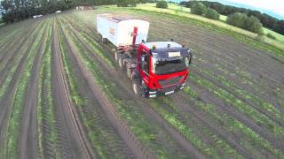 Farming from above 2014 UK Farming at it's best.