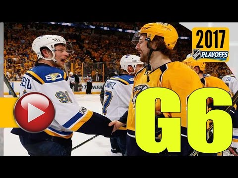 Nashville Predators vs St. Louis Blues. 2017 NHL Playoffs. Round 2. Game 6. 05.07.2017. (HD)