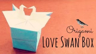 Love Swan Box Origami Instructions (Tadashi Mori)