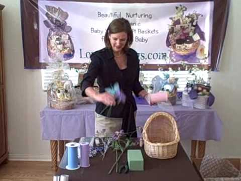 How To Make A Baby Shower Gift Basket Part 1 Youtube