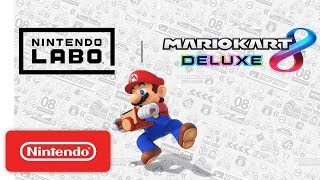 Mario Kart 8 Deluxe compatible with the Toy-Con Motorbike in Nintendo Labo
