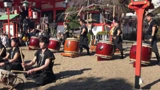 魁 太鼓集団烈火 2017/1/1 中島惣社