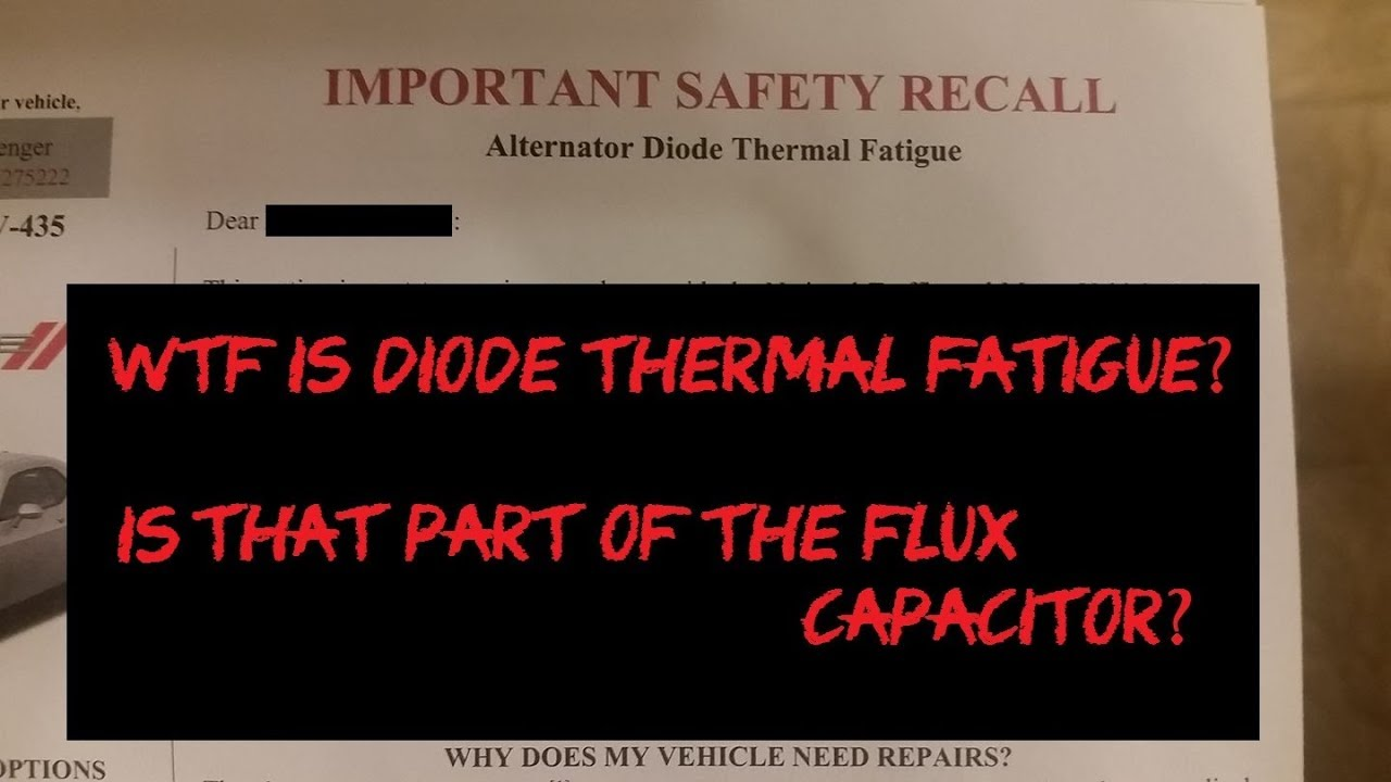2013 Charger Fuse Box Diode Zener Blog Wiring Diagram Dodge Issues A Recall Without Parts To Fix It Altinator Maxima
