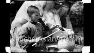 1920's Film of China: A young boy and his Pet Bird near Beijing