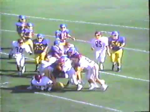 Charter Oak High School Frosh Football 1989   COHS vs West Covina