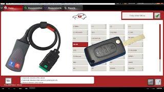 Запись ключа PeugeotCitroen с Aliexpress через Lexia 3. Удаляем ошибки, кодируем открытие багажника