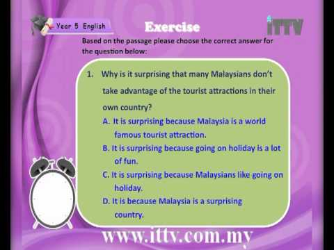 iTTV UPSR Year 5 English #2 Travel and Adventure (Comprehension) -Tuition/Lesson/Exam/Tips