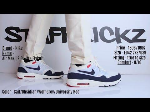 On Feet Nike Air Max 1 Ultra 2.0 Flyknit Obsidian YouTube