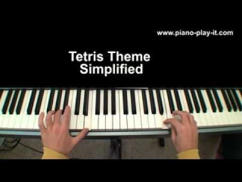 Tetris Theme Piano Simplified Version - Video Game Sheet Music For Beginners