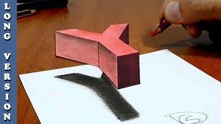 3D Trick Art on Paper Floating letter Y, Long Version