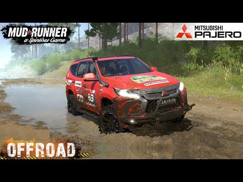 Spintires: MudRunner - MITSUBISHI PAJERO Off-road And Crossing River