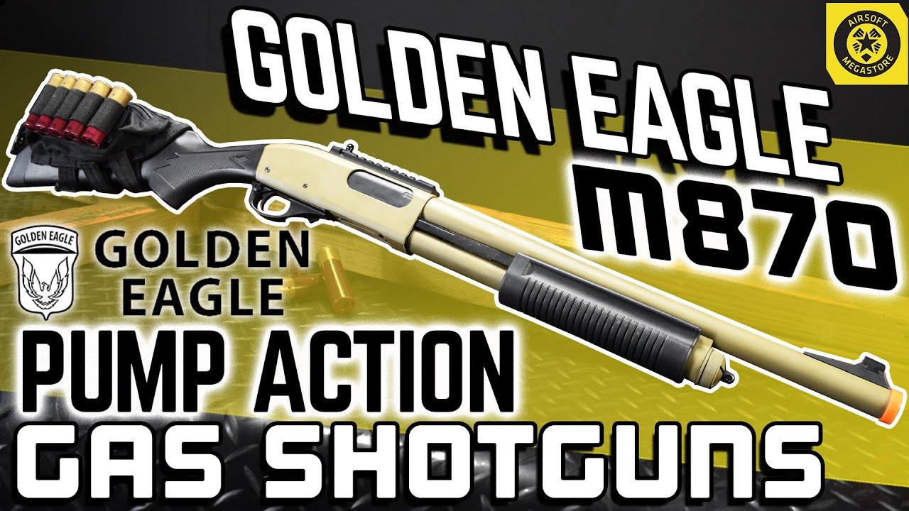 I CALL SHOTGUN!!!   Golden Eagle M870 Pump Action Gas Shotguns   Quick Look Airsoft Megastore