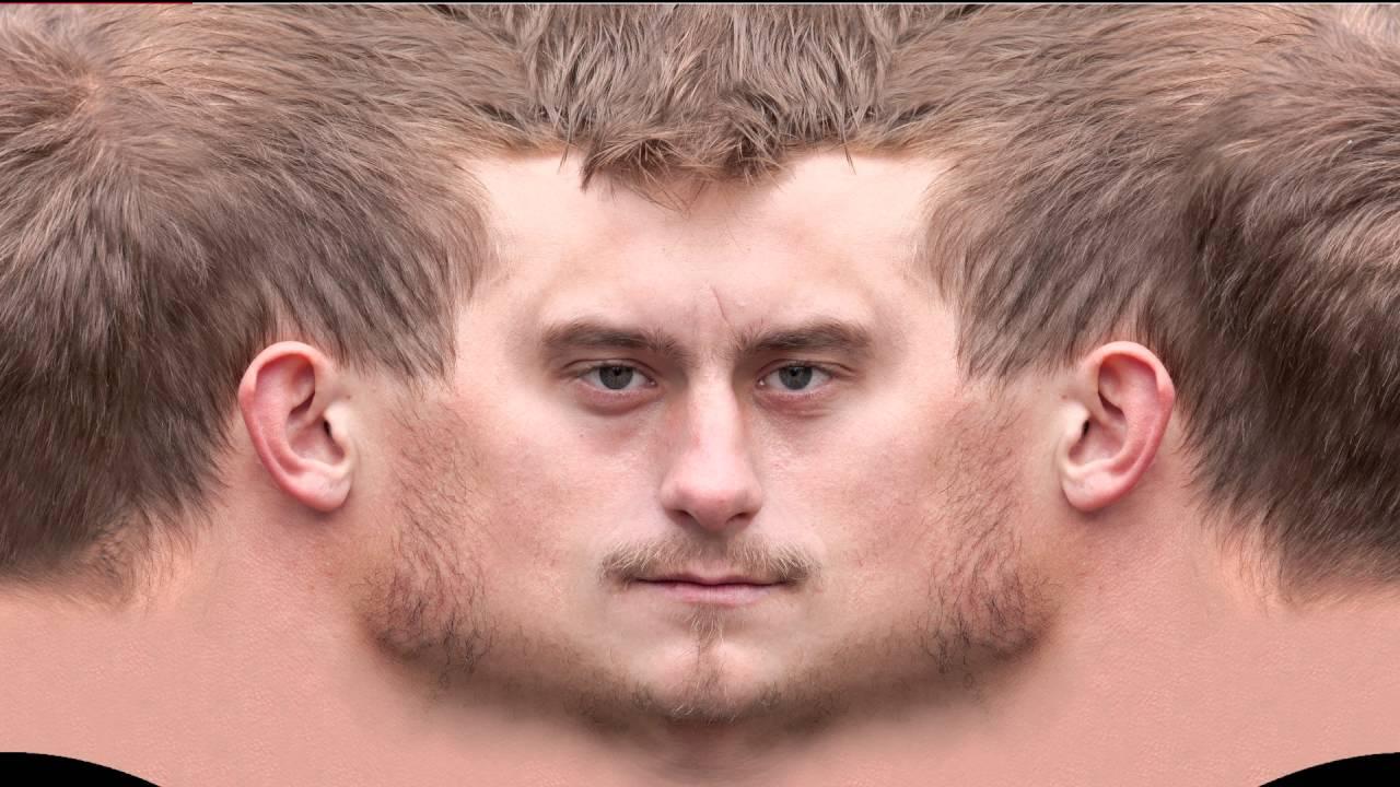 textures of head 3d artist
