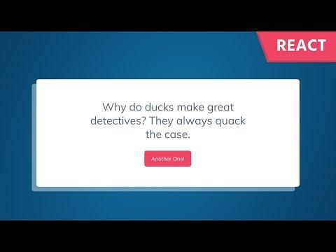 React JS Tutorial: Build a Dad Joke Generator by Fetching Data from an API thumbnail