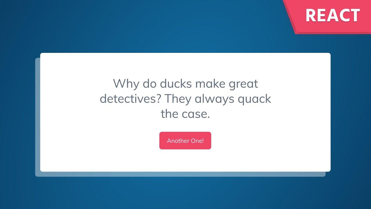 React JS Tutorial: Build a Dad Joke Generator by Fetching Data from an API