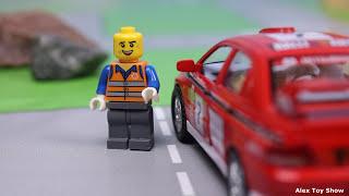 Мультик про машинки - 182 серия: Гоночная машина, Полиция, Скорая помощь, Трактор, Авария