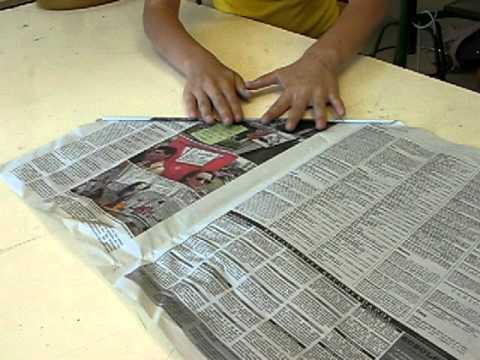 Estructura de papel paso 1 enrollar las hojas de - Como hacer un estor enrollable paso a paso ...