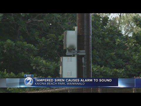 Tampered siren raises false alarm in Waimanalo
