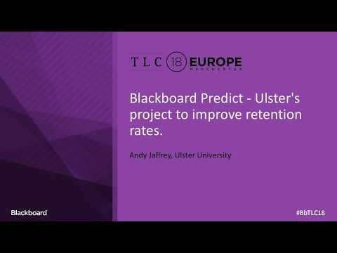 Blackboard Predict: Ulster's Project to Improve Retention Rates (Andy Jaffrey)