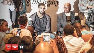 Drake visits Nelson Mandela Centre of Memory in JHB