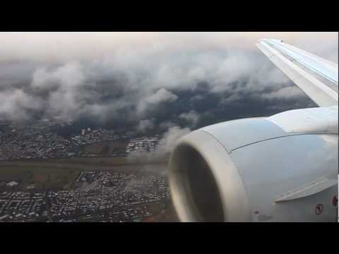 Approach And Full Taxi To Parking Position In Frankfurt With Lufthansa B737-300 (January 22nd, 2012)