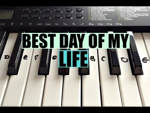Best Day Of My Life - American Authors| Easy Keyboard Tutorial With Notes (Right Hand)