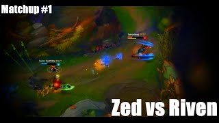 Skill Matchup Montage 1 Zed vs Riven【League of Legends】