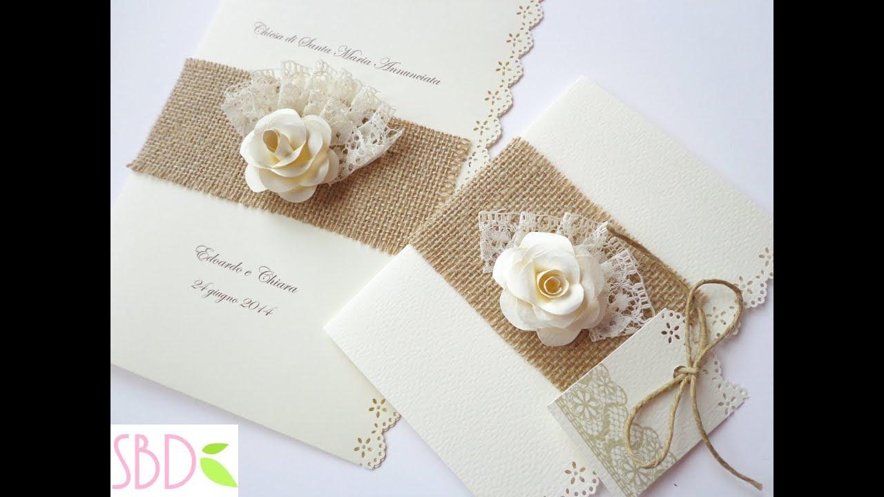 abbastanza Partecipazioni di Nozze Shabby - Shabby Wedding Invitations - YouTube FV92