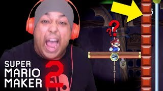 NO CHECKPOINT AND BLOCKING THE ENDING!? WHY!??  [SUPER MARIO MAKER 2] [#02]