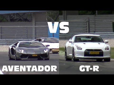 Lamborghini Aventador vs Nissan GTR