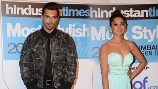 Karan Singh Grover & Ex Wife Jennifer Winget At Red Carpet of HT Cafe Most Stylish Awards 2016