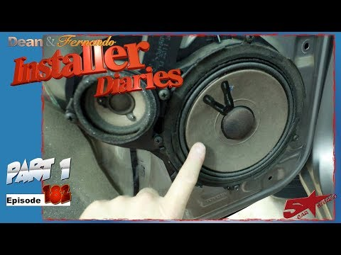 We start on a 04 Toyota Sequoia JBL factory stereo removal Installer Diaries 182 part 1