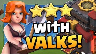 """3 STAR with VALKYRIES at TH10 in """"Clash of Clans"""" [2018] CoC War Attack Strategy!"""