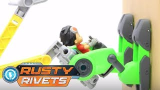 Rusty Rivets | Driving Rusty Up The Wall | Toys for Kids