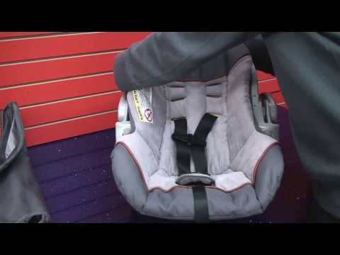 how to re thread the harness on a graco infant car seat doovi. Black Bedroom Furniture Sets. Home Design Ideas