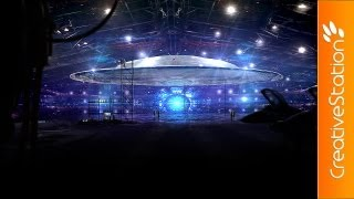 Top Secret UFO in Underground Bunker at Area 51 - Speed art ( #Photoshop ) | CreativeStation