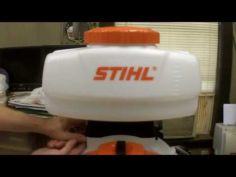 Stihl SR-450 Mist Blower Review and Assembly