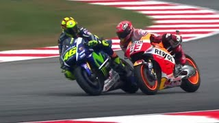 MotoGP Rossi Vs Marquez Sepang Full Fight 2015