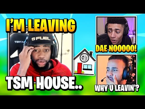 Daequan Explains Why He's LEAVING The TSM House | Fortnite Daily Funny Moments Ep.549