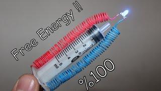 Şırınga İle Sınırsız Elektrik Üretimi  | FREE ENERGY