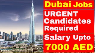 [DUBAI JOBS] Friday Special Jobs || GOOD SALARY PACKAGE | Jobs in Dubai