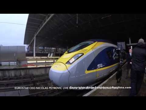 4K Film and View from the Operator Cabine Inaugural Eurostar Train from London to Amsterdam