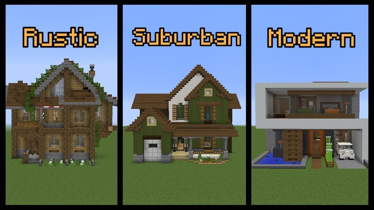 Minecraft Build School Building Different Styles Youtube