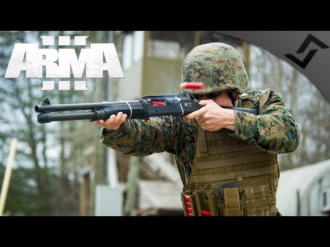 US Marines Shotgun Breach & Clear - ArmA 3 - Securing the Nuclear Device