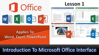 An Introduction to Start / Welcome Screen in Microsoft Office 2019 Tutorial - Lesson 1