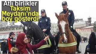 Atlı Birlikler Taksim Meydanı'nda Boy Gösterdi