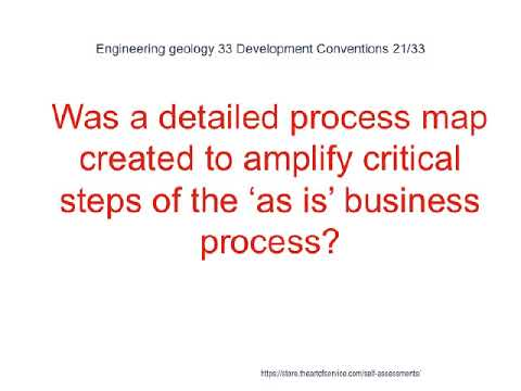 Engineering geology 33 Development Conventions