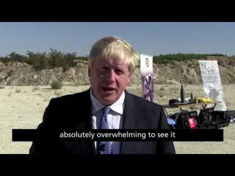 Foreign Secretary Boris Johnson visits Syrian refugee camp near Gaziantep, Turkey